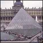 Paris France Louvre pyramid