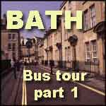 Bath bus tour England United Kingdom