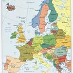 Europe map royalty free public domain