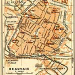Beauvais  France maps in public domain, royalty free --