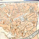 Beziers  France maps in public domain, royalty free --