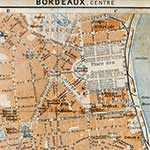 Bordeaux center  France maps in public domain, royalty free