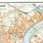 Bordeaux  France maps in public domain, royalty free --