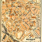 Bourges  France maps in public domain, royalty free --