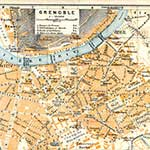 Grenoble  France maps in public domain, royalty free