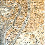 Lyons  France maps in public domain, royalty free