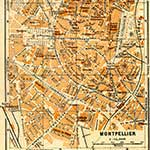 Montpelier  France maps in public domain, royalty free