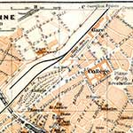 Narbonne  France maps in public domain, royalty free