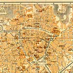 Nimes  France maps in public domain, royalty free