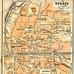 Rennes  France maps in public domain, royalty free