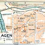 Agen map France public domain royalty free