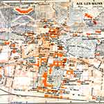 Aix-les-bains map France public domain royalty free