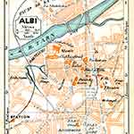 Albi map France public domain royalty free