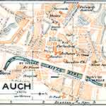 Auch map France public domain royalty free