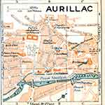 Aurillac map France public domain royalty free