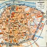 Avignon France map no copyright