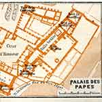 Avignon Popes Palace map France public domain royalty free
