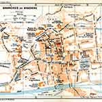 Bagneres-de-Bigorre map France public domain royalty free