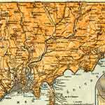Cote d'Azur map France public domain royalty free