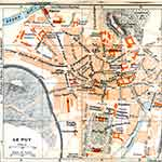 Le Puy map France public domain royalty free