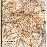 Limoges map in public domain, free, royalty free, royalty-free, download, use, high quality, non-copyright, copyright free, Creative Commons,