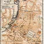 Niort map France public domain royalty free