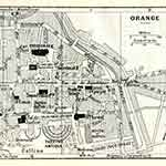 Orange map France public domain royalty free