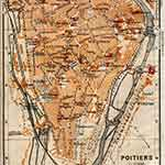 Poitiers map France public domain royalty free