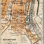 Rochefort map France public domain royalty free