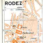 Rodez map France public domain royalty free