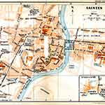 Saintes map France public domain royalty free