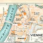Vienne  France map