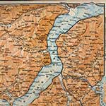 Lake Maggiore map, royalty free, public domain
