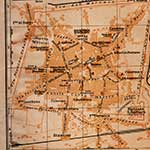 Pistoia map, royalty free, public domain