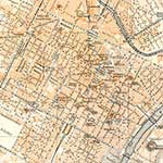 Turin map, royalty free, public domain
