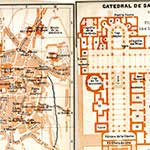 Santiago Spain  map in public domain, free, royalty free, royalty-free, download, use, high quality, non-copyright, copyright free, Creative Commons,